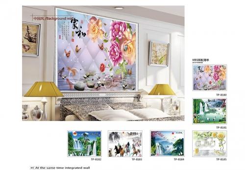 3D卧室背景墙
