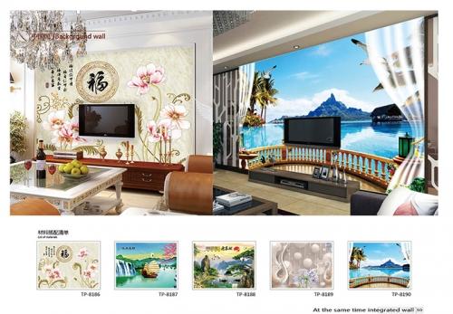 家装背景墙壁画
